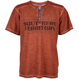 Herren Henley Shirt mit Print
