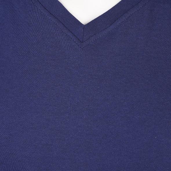 Herren Basic Shirt mit V-Ausschnitt