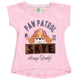 Mädchen Shirt mit Print und Wendepailletten-Motiv