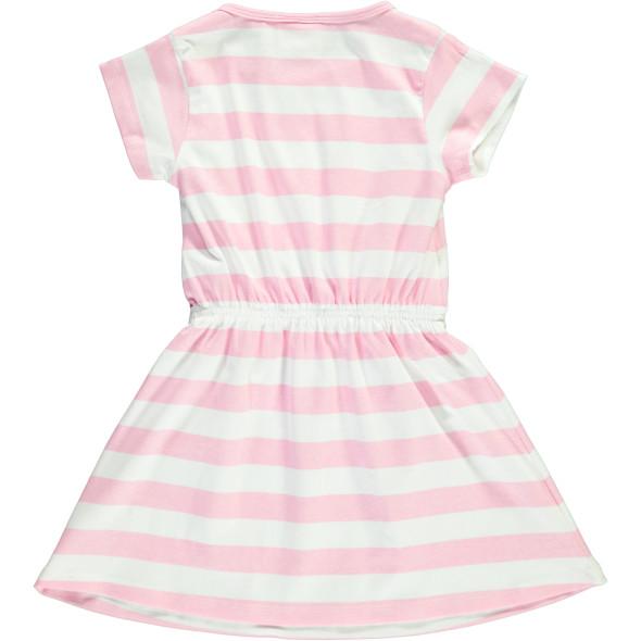 Mädchen Kleid mit Print im Streifenlook