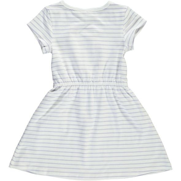 Mädchen Kleid mit Streifen und Glitzerprint