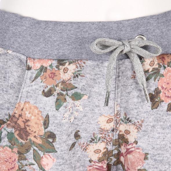 Damen Jogginghose mit Blumenprint