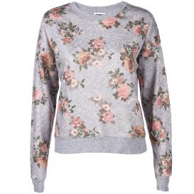 Damen Sweatshirt mit floralem Print