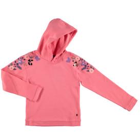Mädchen Sweatshirt mit Paillettendetails und Kapuze