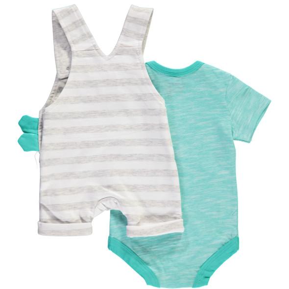 Baby Set bestehend aus Body und kurzer Latzhose
