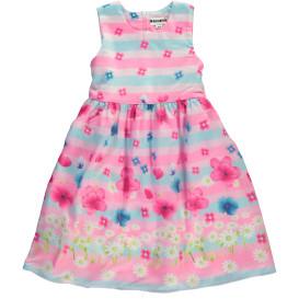 Mädchen Kleid mit Streifen und Blumenprint