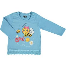 Baby Mädchen Longsleeve mit Bienenmotiv