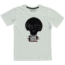 Jungen Shirt mit Wende-Pailletten und Print