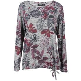 Damen Flauschshirt im floralen Dessin