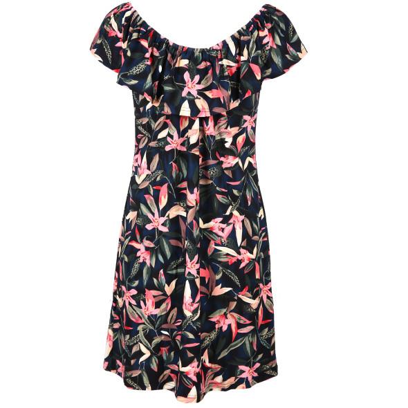 Damen Kleid mit schulterfreiem Volant