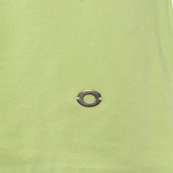Damen Shirt mit 3/4 Arm und abgerundetem V-Ausschnitt