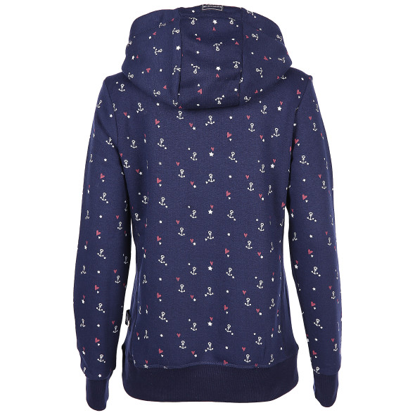 Damen Sweatshirt mit Alloverprint und Kapuze