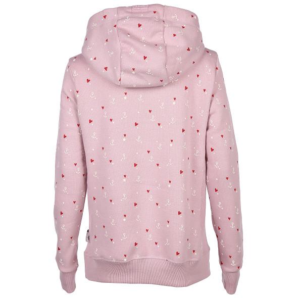 Damen Sweatshirt mit Alloverprint und Kapuze