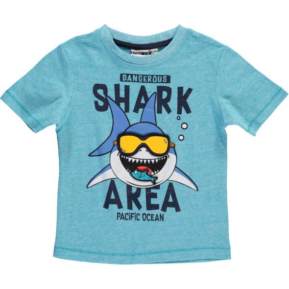 Jungen T-Shirt  mit lustigem Haiprint