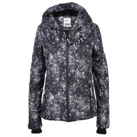 Damen Jacke mit Kapuze und Alloverprint