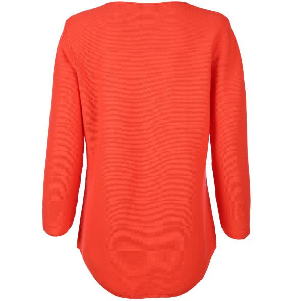 Damen Pullover in Ottoman Rippe und 3/4 Arm