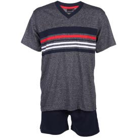 Herren Pyjama Set mit Streifen in kurzer Form