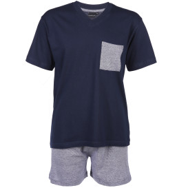 Herren Pyjama Set in kurzer Form