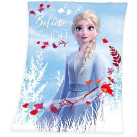 Fleece Decke mit Frozenmotiv 130x160cm