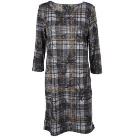 Damen Flauschkleid im Glencheck-Mix