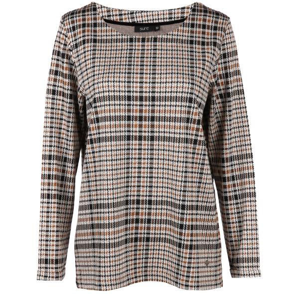 Damen Sweater mit Hahnentritt-Muster