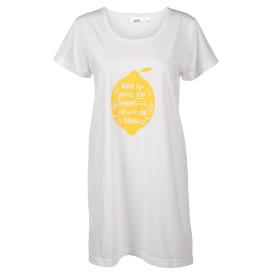 Damen Schlafshirt mit Zitronenaufdruck