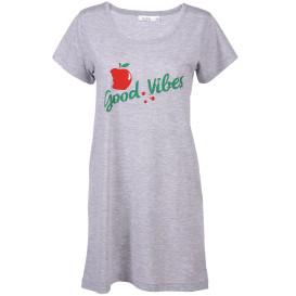 Damen Schlafshirt mit Apfelsprint