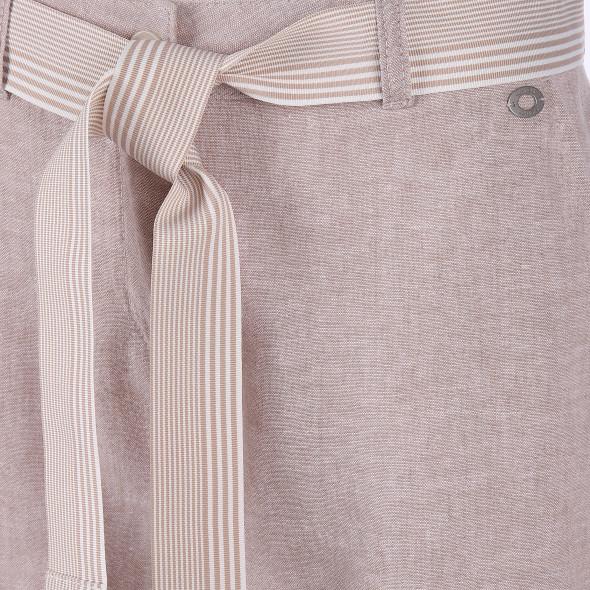 Damen Hose mit Streifen und Ripsgürtel
