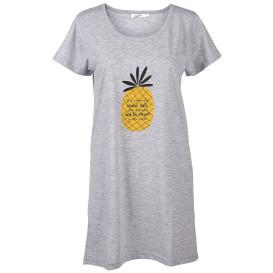 Damen Schlafshirt mit Ananasprint