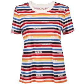 Damen Shirt mit Streifen und Logoschrift