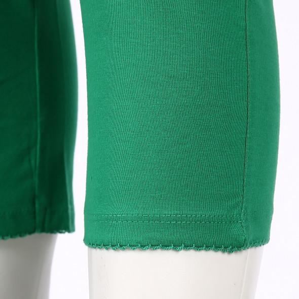 Damen Capri Leggings mit Mausezähnchenabschluss