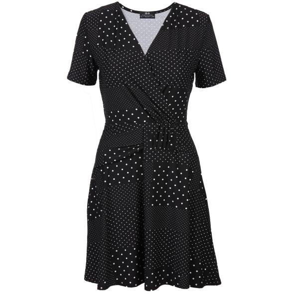 Damen Kleid mit überschnittenem Ausschnitt