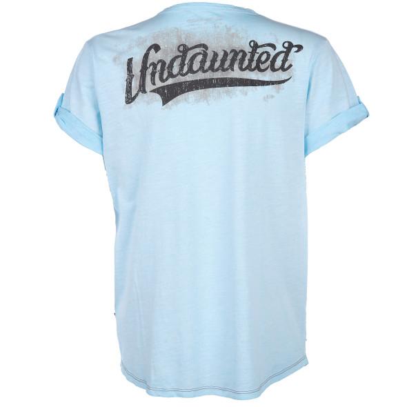 Herren T-Shirt mit V-Ausschnitt und Print