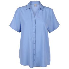 Damen Bluse unifarben mit kurzem Arm