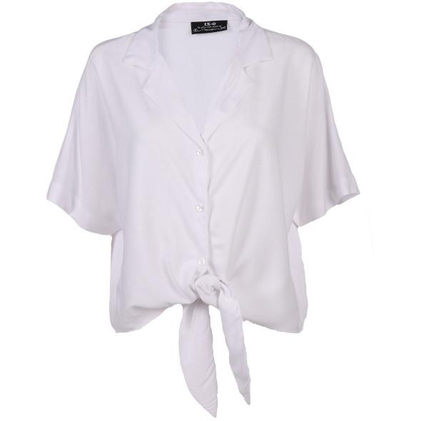 Damen Bluse mit Knoten