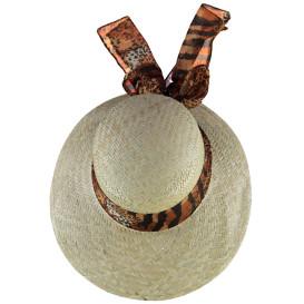 Damen Strohhut mit dekorativer Schleife