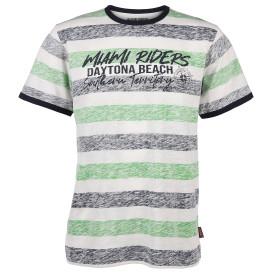 Herren Shirt mit Streifen und Print