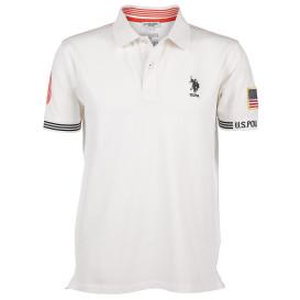 Herren Poloshirt mit Stickerei und modischen Details