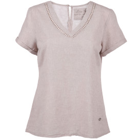 Damen Shirt in Leinenmischung