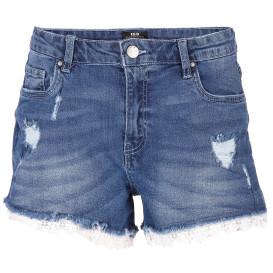 Damen Jeansshorts mit Spitze