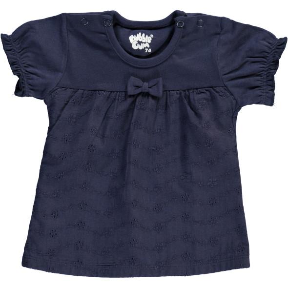 Baby Shirt mit Lochstickerei