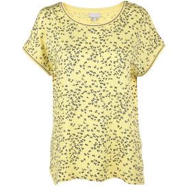 Damen Shirt mit Glitzer-Strickbündchen