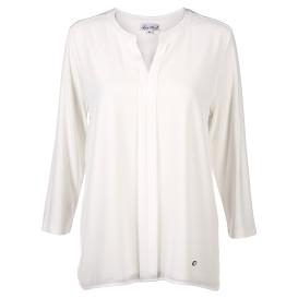 Damen Matrialmix Shirt mit 3/4 Ärmel