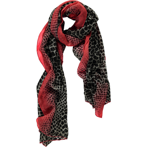 Damen Schal mit Animalprint