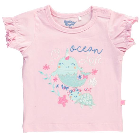 Baby Shirt mit Frontprint und Applikation