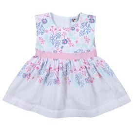 Baby Kleid mit Print und Taillenband