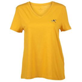 Damen Shirt mit V-Ausschnitt und Stickerei