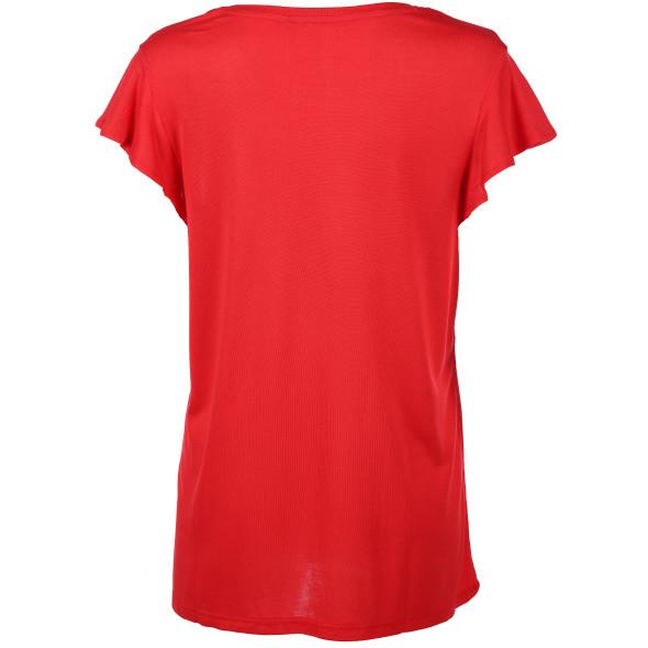 Damen Shirt mit Volantärmelchen