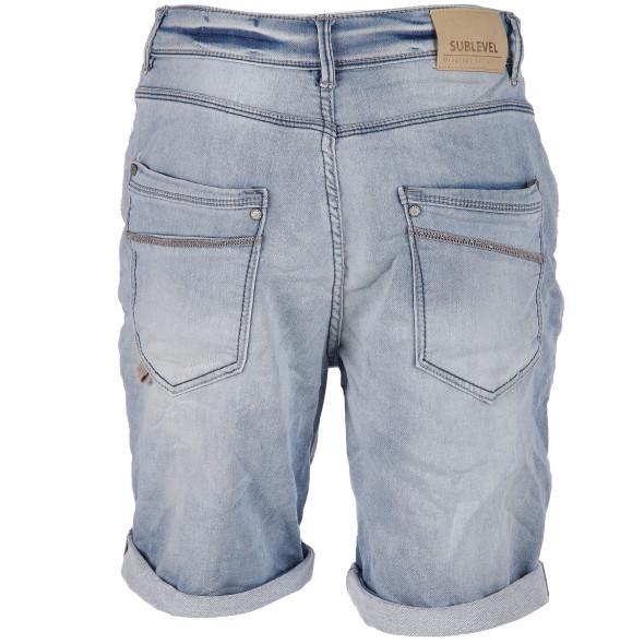 Herren Jeans Bermuda in heller Waschung