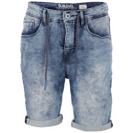 Herren Jeans Bermuda mit Used Effekten